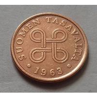 5 пенни, Финляндия 1963 г.