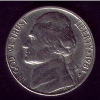 5 центов 1983 год США Р