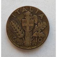 Италия 10 чентезимо, 1942 1-7-35