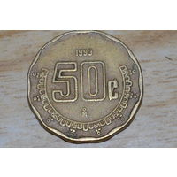 Мексика 50 сентаво 1993