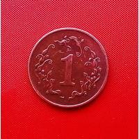50-18 Зимбабве, 1 цент 1991 г. Единственное предложение монеты данного года на АУ