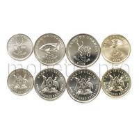 Уганда 4 монеты 2008-2012 года. Животные