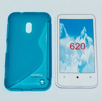 205 Чехол для Nokia Lumia 620 силикон синий