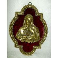 Дева Мария. Красивейшее панно. Бронза.