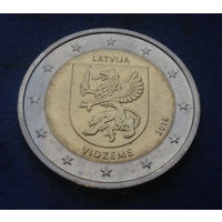 Латвия 2 евро 2016 Видземе