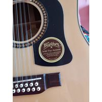 Гитара двенадцатиструнная WASHBURN  с чехлом и запасными струнами за 500 рублей