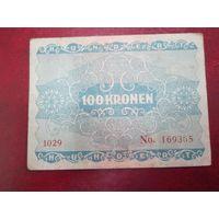 100 крон 1922 года Австрия (серия 1029)