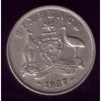 6 пенсов 1957 год Австралия