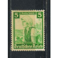 Германия Рейх 1935 Германская взаимопомощь Национальные костюмы #590*