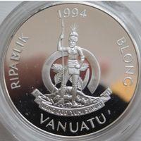 36. Вануату 50 вату 1994 год, серебро*