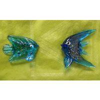 Стеклянные рыбки сувениры, 7 см, одним лотом