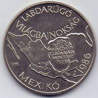Венгрия, 100 форинтов 1985 года. Футбол, чемпионат Мира 1986 года.
