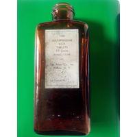 Старинная аптечная бутылка от американских таблеток SULFAPYRIDINE USP.TABLETS 7.7 Grains.Buffalo,N.Y. Первая половина XX-го века.