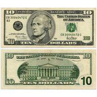 США. 10 долларов (образца 2001 года, P511)