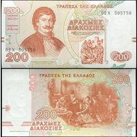 Греция 200 драхм образца 1996 года UNC p204