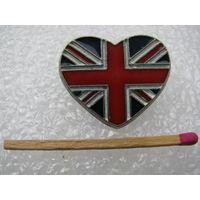 Знак. С любовью к флагу GB. Юнион Джек. тяжёлый