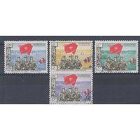 [427] Лаос 1961.Армия.Флаг.  Гашеная серия.