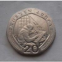 20 пенсов, остров Мэн 2002 г.