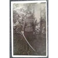 Фото латвийского военного. До 1940 г.  9х14 см.