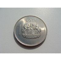 """Лесото. 1 лоти 1979 год  KM#22  """"Король Лесото - Мошвешве II"""""""