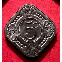 04-39 Антильские острова, 5 центов 1970 г.