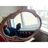 Зеркало старое, большое, метал, состояние