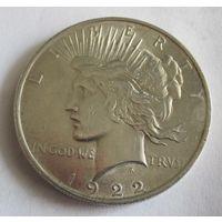 США, доллар, 1922, серебро