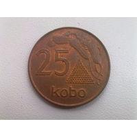 Нигерия 25 кобо 1991