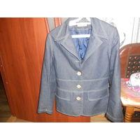 Пиджак джинсовый+юбка джинс .