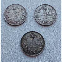 Канада 10 центов, 1918  7-6-35*37