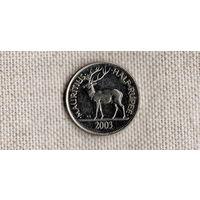Маврикий 1/2 рупии 2003 /олень/фауна/(FV)