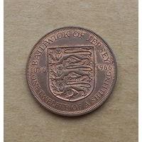 Джерси, 1 пенни 1966 г., 900 лет нормандского завоевания Англии