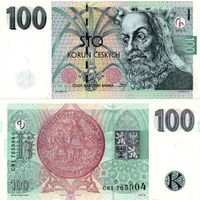Чехия  100 крон  1997 год  аUNC