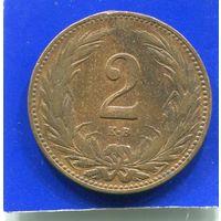 Венгрия 2 филлера 1909