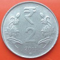 2 рупии 2011 ИНДИЯ - Новый тип