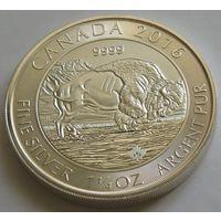 "Канада 2016 серебро (1.25 oz) ""Бизон"""
