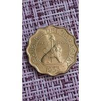Парагвай 15 сентимос 1953 г