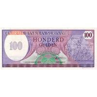 Суринам, 100 гульденов, 1985 г., UNC