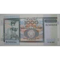 Бурунди 1000 франков 2009 г. (g)