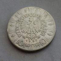 10 злотых, Польша 1937 г., Пилсудский