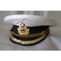 Фуражка военно-морская СССР. 57 размер. Примерно 1960-тые годы.