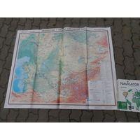 """Карта """" Казахстан и страны Средней Азии"""""""