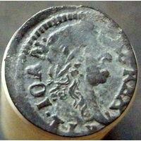Боратинка 1664 коллекционное состояние, коронный солид, Уяздов
