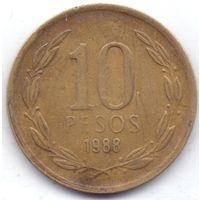 Чили,  10 песо 1988 года, S.