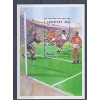 [1560] Лесото 1987.  Спорт.Олимпиада.Футбол. БЛОК.