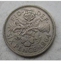 Великобритания. 6 пенсов 1964   .6 А-186