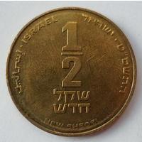"""Израиль 1/2 нового шекеля 1985 """"12-струнная арфа"""""""