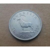 Родезия, 2,5 шиллинга - 25 центов 1964 г., состояние