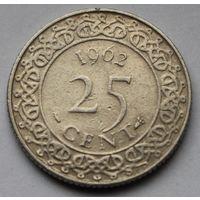 Суринам, 25 центов 1962 г.
