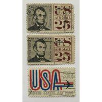 Марки США-1960-Abraham Lincoln и Авиапочта США.